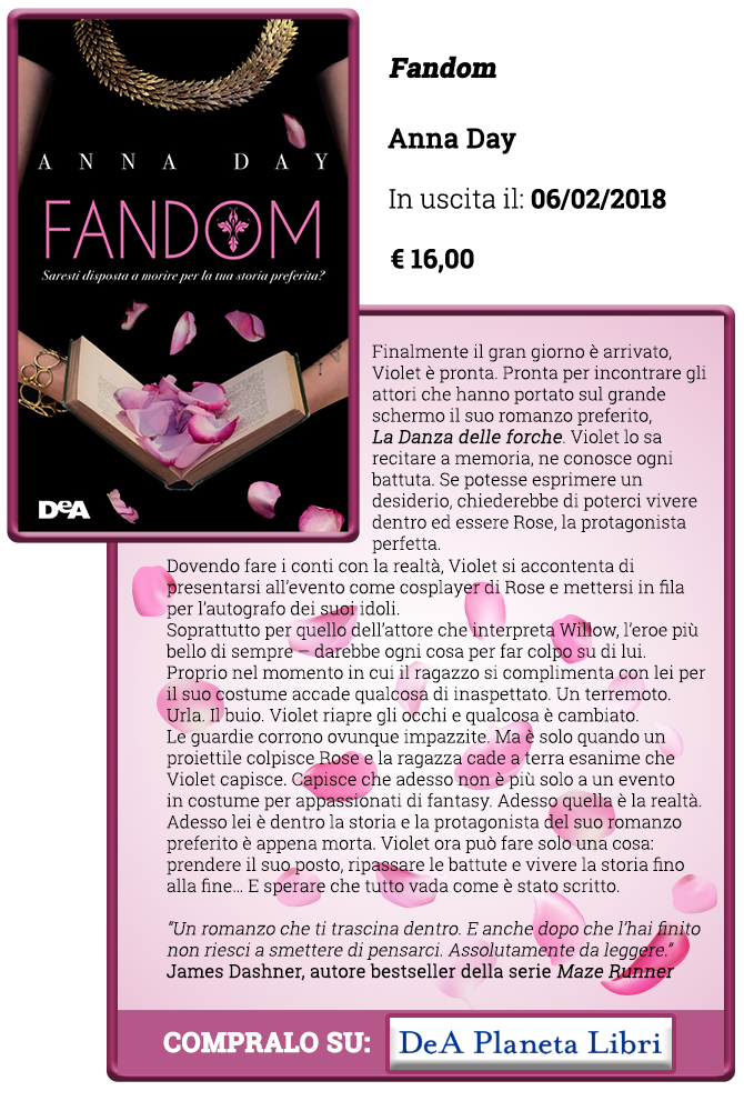 Review Party - Fandom di Anna Day. Vinci una copia del libro! - Copertina e trama