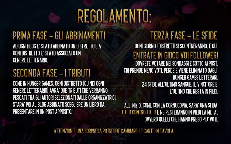Hunger Games Letterari - Regolamento 1