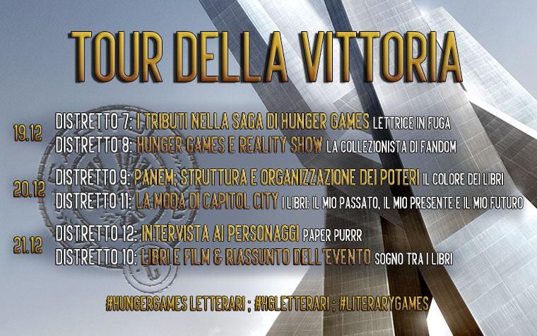 Distretto 8; Tour della Vittoria - Calendario